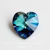 6228 Подвеска Сваровски Сердечко Crystal Bermuda Blue (14,4х14 мм)