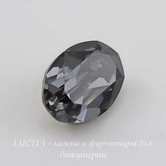 4120 Ювелирные стразы Сваровски Crystal Silver Night (18х13 мм)