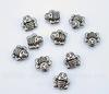 """Бусина металлическая """"Пчелка"""" (цвет - античное серебро) 9х9 мм, 10 штук"""