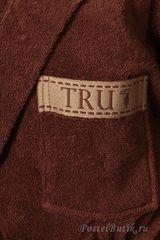 Элитный махровый халат Golf коричневый от Trussardi