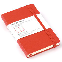 Moleskine Red Pocket Ruled Notebook