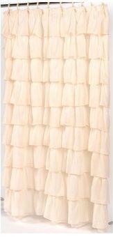Элитная шторка для ванной Carmen слоновая кость от Carnation Home Fashions