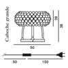 лампа Foscarini Caboche Table Lamp ( 50 cm , прозрачная )