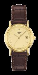 Женские швейцарские золотые часы Tissot T-Gold Carson T71.3.129.21