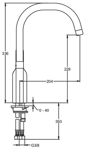 Jacob Delafon Singulier cмеситель для мойки E10877-CP