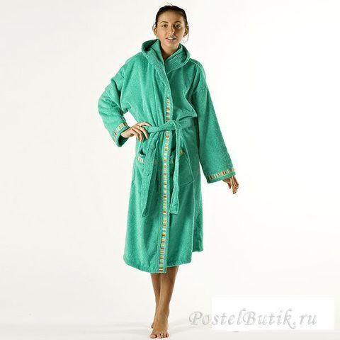 Элитный халат махровый Yupi изумрудный от Caleffi