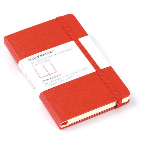 Moleskine Red Pocket Plain Notebook