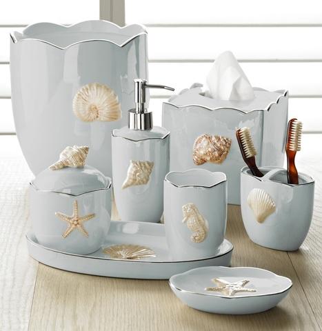 Стакан для зубной пасты Mare Shells Seafoam от Kassatex