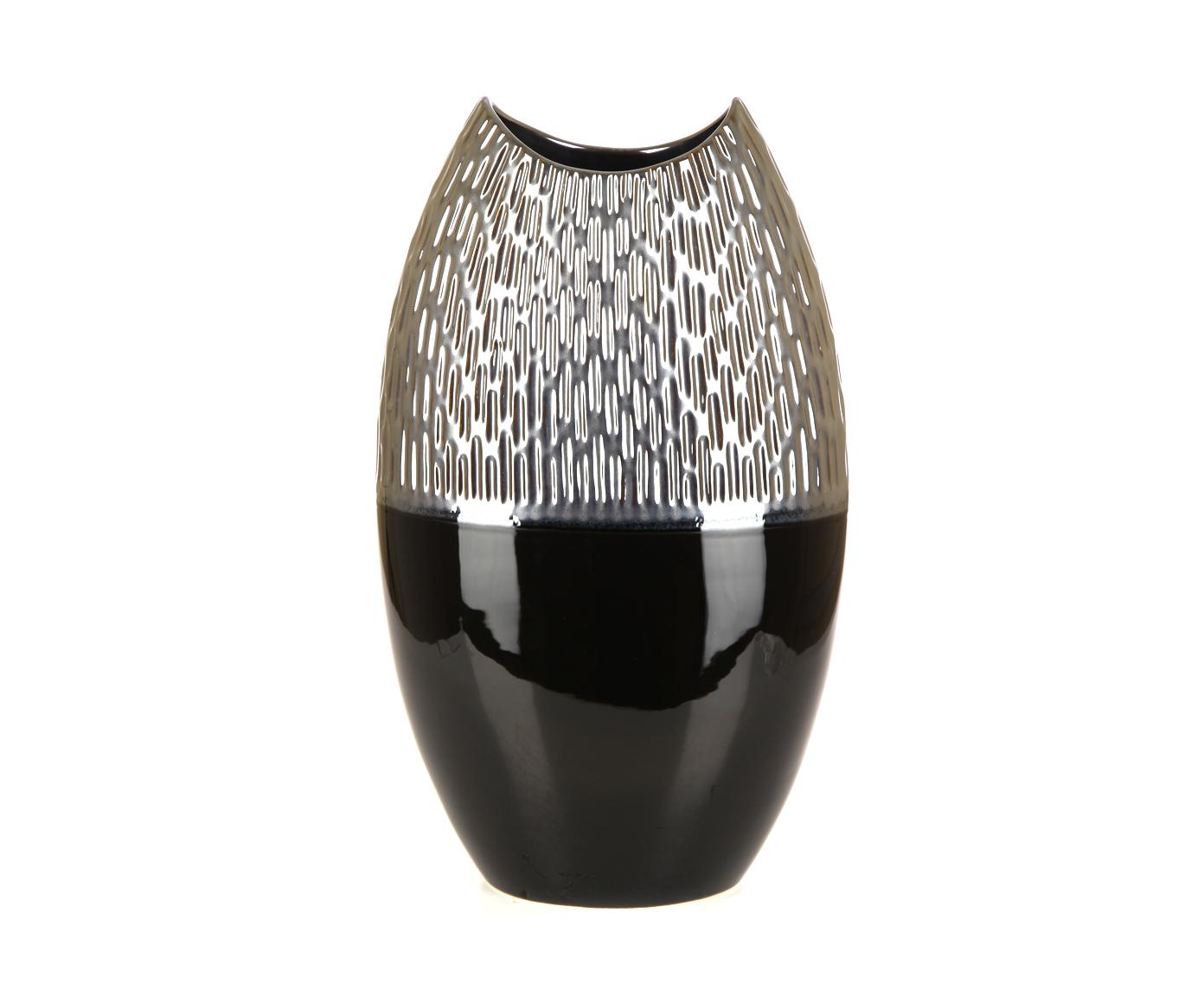 Вазы настольные Элитная ваза декоративная Лейрия высокая от Sporvil vaza-dekorativnaya-vysokaya-leyriya-serebro-s-chernym-ot-sporvil-portugaliya.jpg