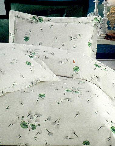 Постельное белье 1.5 спальное Mirabello Ciclamini бежевое с белыми цветами