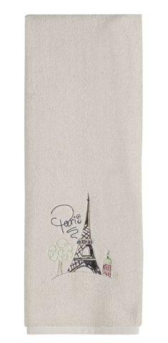 Полотенце 69х132 Creative Bath I Love Paris слоновой кости