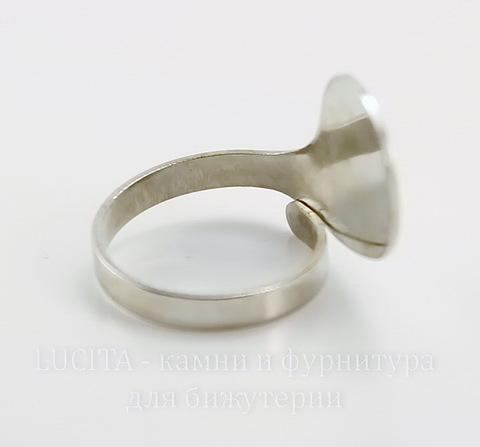 Основа для кольца с площадкой 20х15 мм (цвет - платина) ()