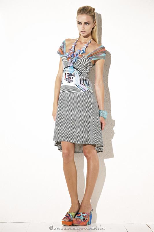 Асимметричное женское платье Save The Queen