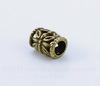 Бусина металлическая трубочка (цвет - античная бронза) 10х6 мм , 10 штук ()