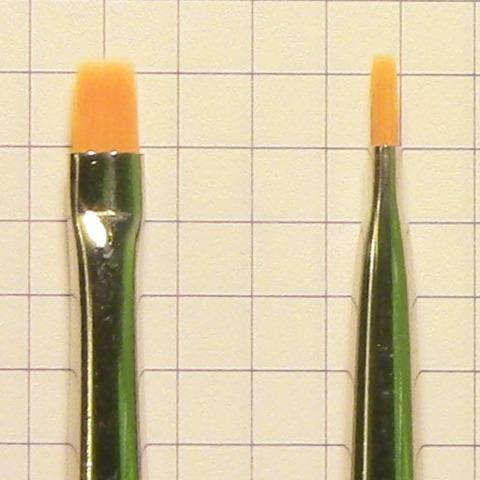 Кисть плоская №4 из синтетики махагон (арт. 301921304)