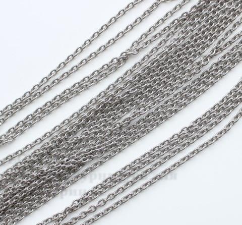 Цепь  (цвет - античное серебро) 4х3 мм, примерно 10 м