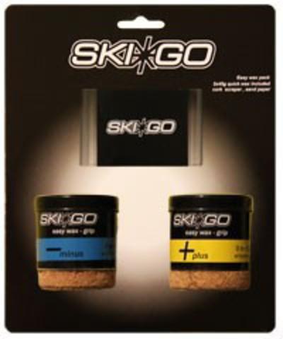 мазь лыжная Skigo скребок Easy Grip pack - Two easywax & one scraper