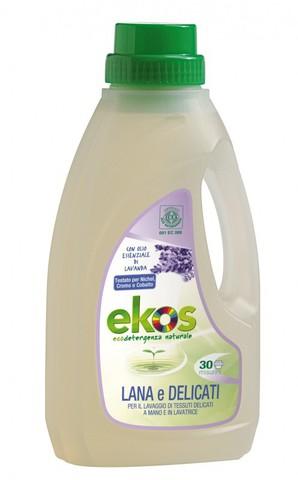 Жидкое средство Еkоs для для ручной и машинной стирки шерсти и деликатных тканей с маслом лаванды. 1л