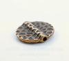 Бусина металлическая плоская (цвет - античная медь) 19 мм
