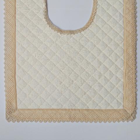 Элитный коврик для унитаза Rombetti бежевый от Old Florence