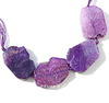 Бусина Агат, цвет - фиолетовый, 39-43 мм, нить