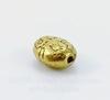 """Бусина металлическая овальная """"Маргаритки"""" (цвет - античное золото) 8х6 мм , 10 штук"""