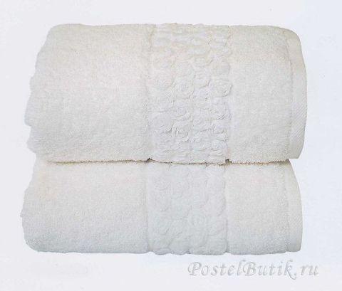 Набор полотенец 2 шт Caleffi Sirena белый