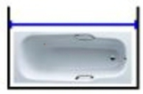 Карниз на ванную 150 нержавейка