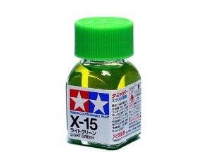 X-15 Краска Tamiya Светло-зеленая Глянцевая (Light Green), эмаль 10мл