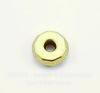 Бусина металлическая - рондель (цвет - античное золото) 8х3 мм, 10 штук
