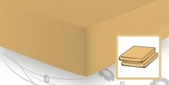 Элитная простыня трикотажная 8000 жёлтая от Elegante