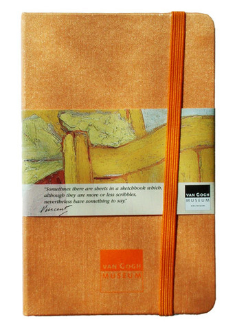 Van Gogh Ruled Peach Notebook