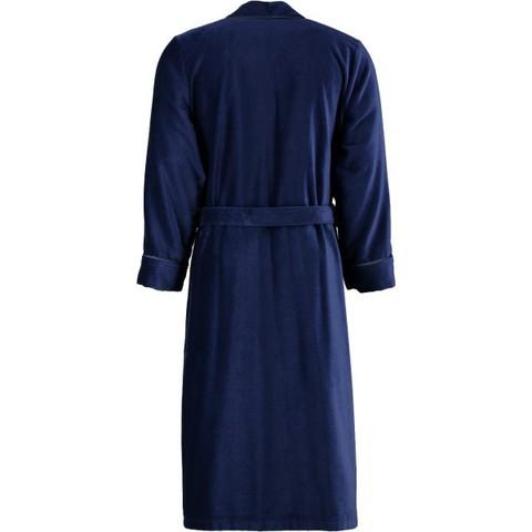 Элитный халат велюровый мужской 3799 синий от Cawo