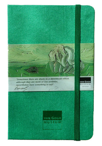 Van Gogh Ruled Emerald Notebook