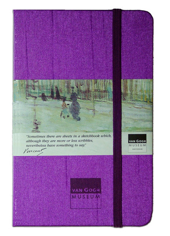 Van Gogh Ruled Purple Notebook