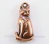 """Подвеска TierraCast """"Сидящая кошка"""" (цвет-античная медь) 22х11 мм"""