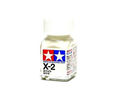 X-2 Краска Tamiya Белая Глянцевая (White), эмаль 10мл