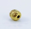 """Бусина металлическая """"Кружочки"""" (цвет - античное золото) 6 мм , 10 штук ()"""