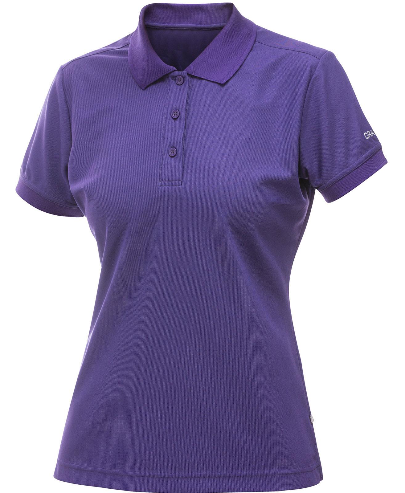 Рубашка-поло женская Craft Pique фиолетовая
