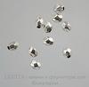 Бусина металлическая граненая (цвет - античное серебро) 4х3,5 мм, 10 штук ()