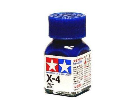 X-4 Краска Tamiya Синяя Глянцевая (Blue), эмаль 10мл