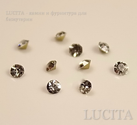 Стразы ювелирные (цвет - прозрачный) 2,2 мм, 10 шт