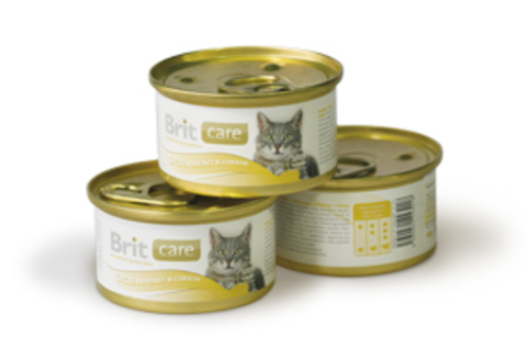 Brit Care with chicken breast & cheese for cat