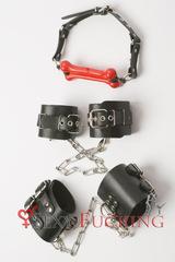Набор БДСМ №1 (наручники, наножники и кляп)