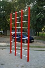 Шведская стенка уличная трехсекционная (металлическая)