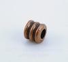 """Бусина металлическая """"Рельефная"""" (цвет - античная медь) 5х5 мм, 10 штук"""