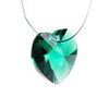 6202/6228 Подвеска Сваровски Сердечко Emerald (14,4х14 мм)