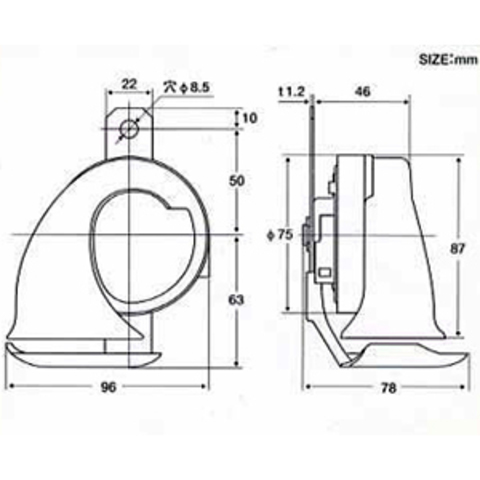 Турбинный звуковой сигнал PIAA Sport Horn HO-2