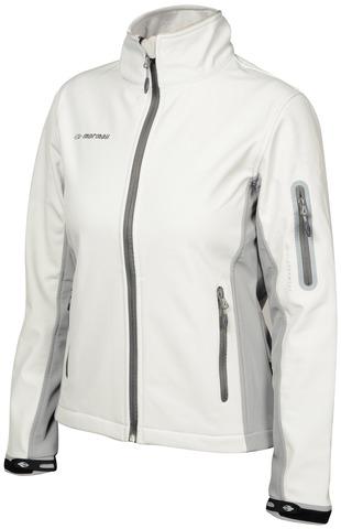 Лыжная утепленная куртка Mormaii White/Light Grey женская