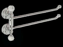 Полотенцедержатель двойной поворотный 37см.  Migliore Amerida ML.AMR-60.424 Swarowski
